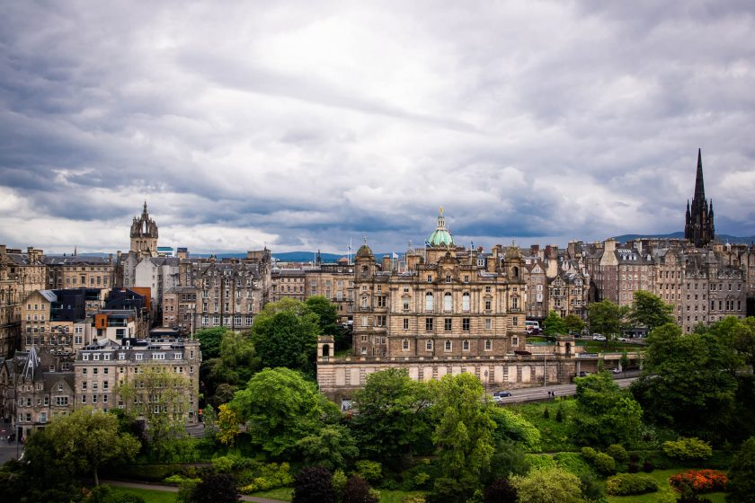 Old Town view from Scott Monument in Edinburgh