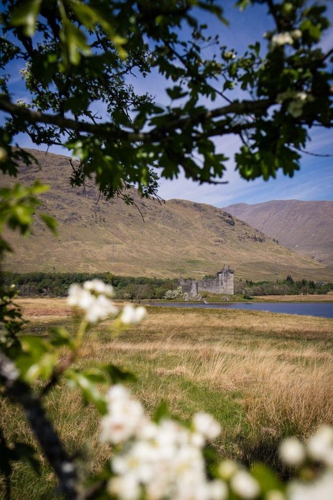Kilchurn Castle at Lochawe in Scotland