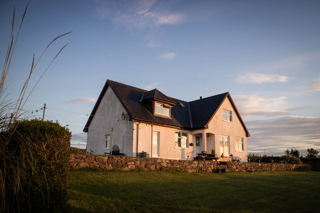 Allandale B&B in Bowmore on Islay at sunset