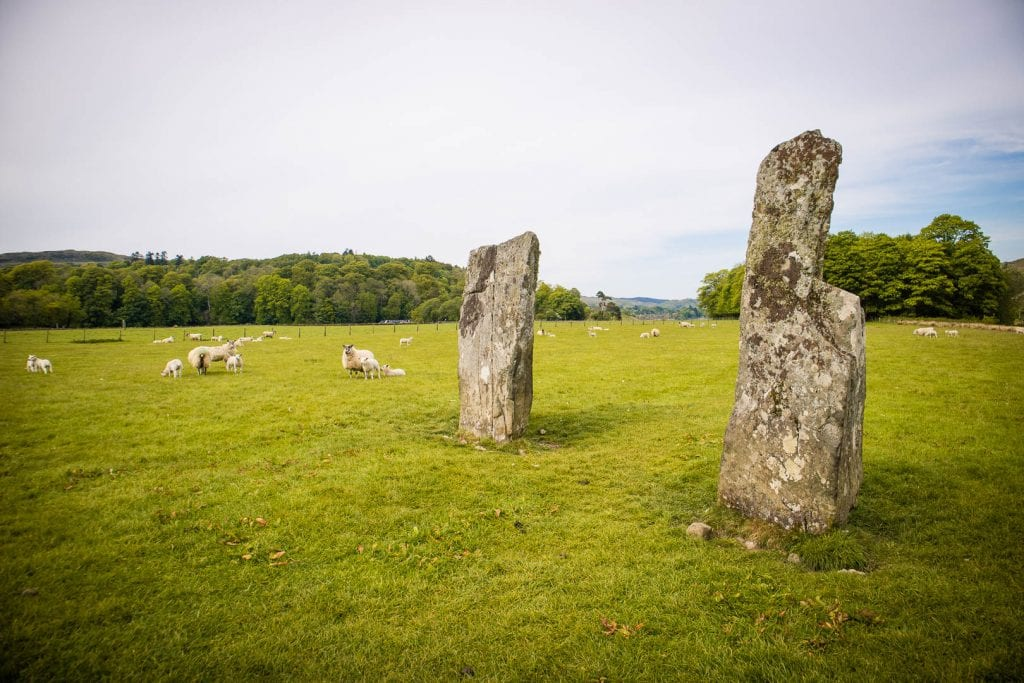 Standing Stones in Kilmartin Glen in Scotland.