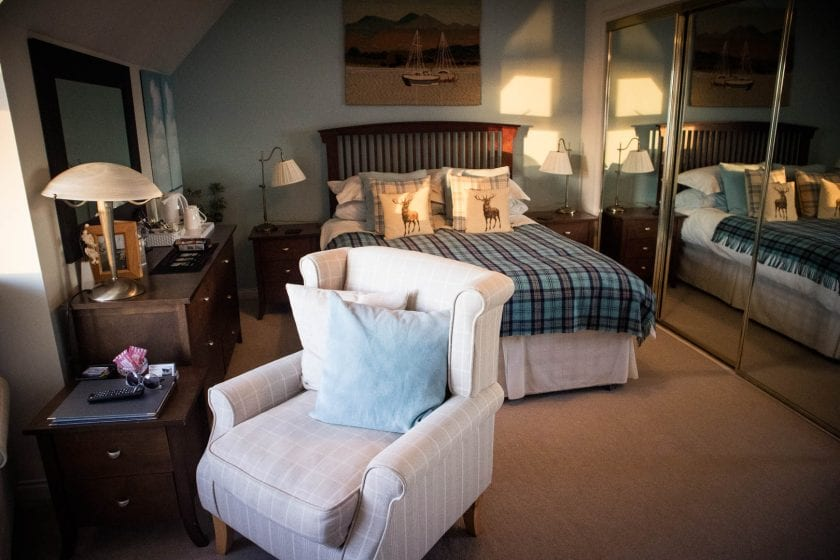 A double room at Allandale B&B on Islay