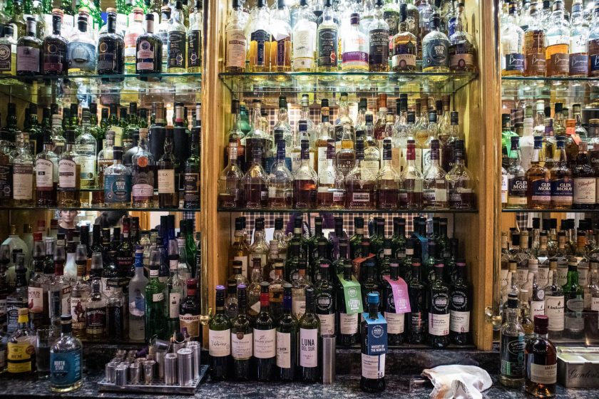 Whisky selection at Ardshiel Hotel