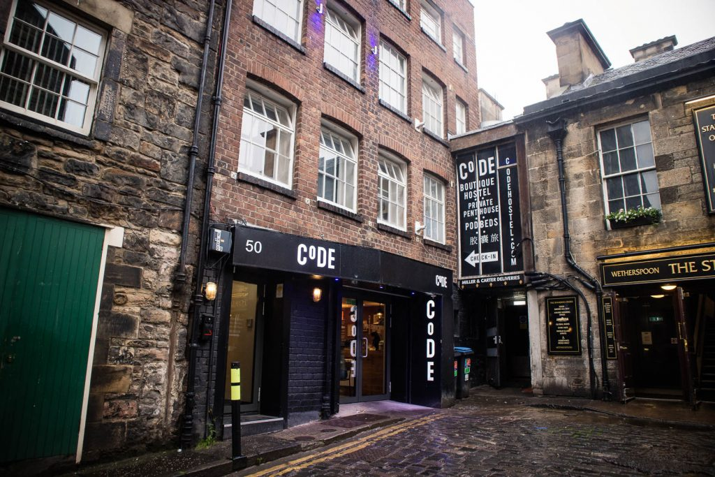 Code pod hostel in Edinburgh