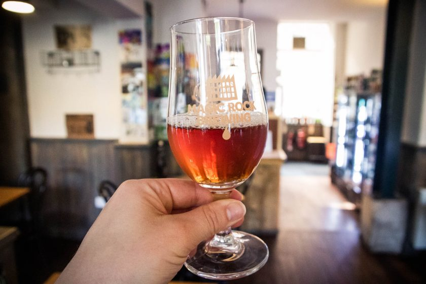 A glass of craft beer on the Edinburgh beer walking tour