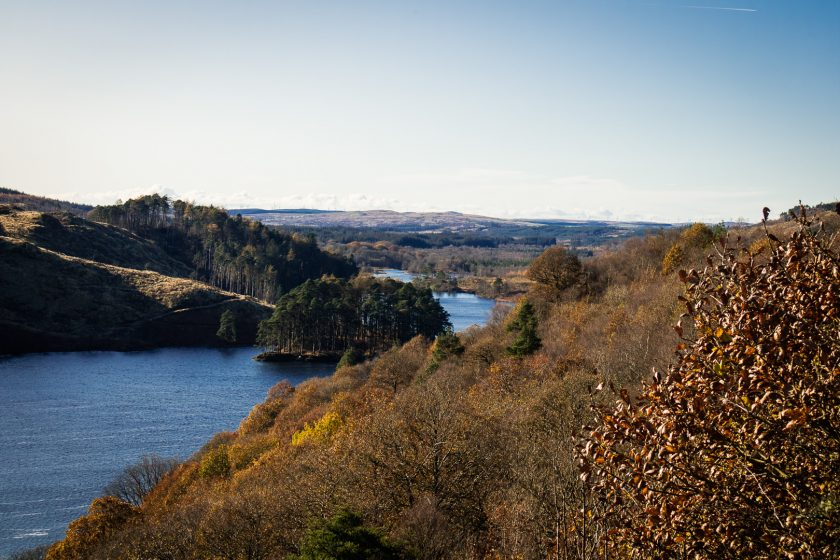View of Loch Trool from Bruce's Stone in Scotland