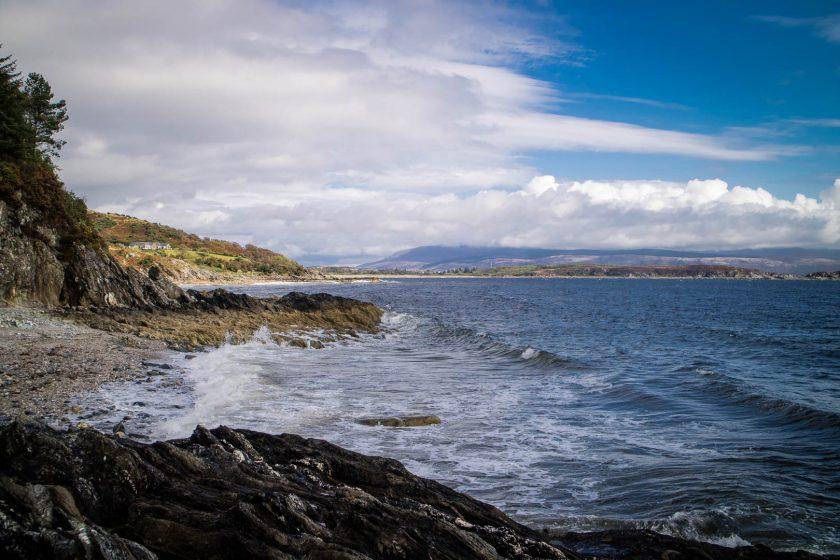Torrisdale Bay on the Kintyre Peninsula in Scotland