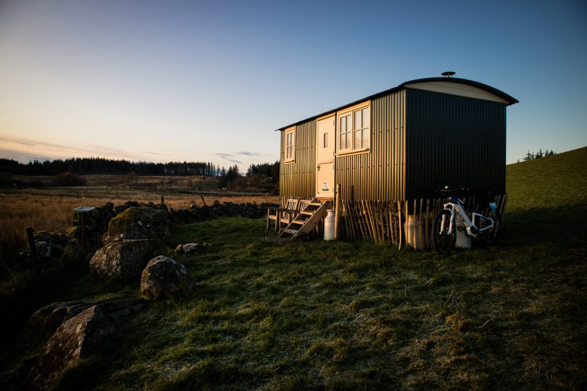 Creeside Escape shepherd's hut in Scotland