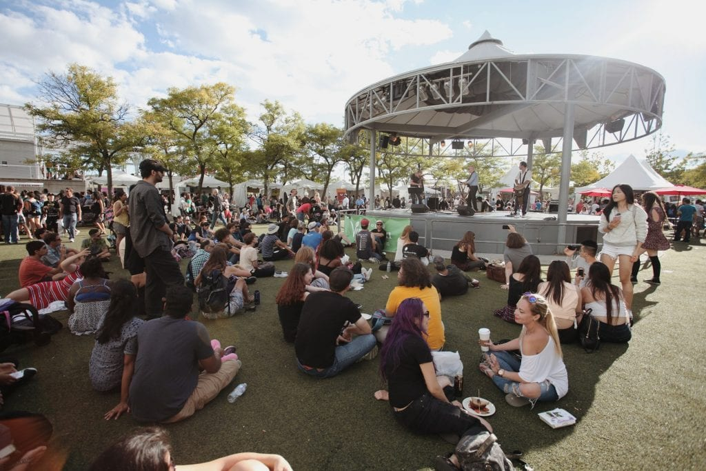 Vegan food festival at the Harbourfront Centre in Toronto.