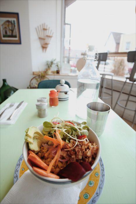 Healthy brunch salad bowl at Hello Darling in Toronto