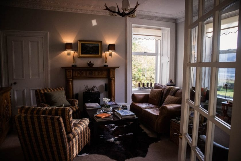 The lounge at Ashfield House B&B in Arrochar.