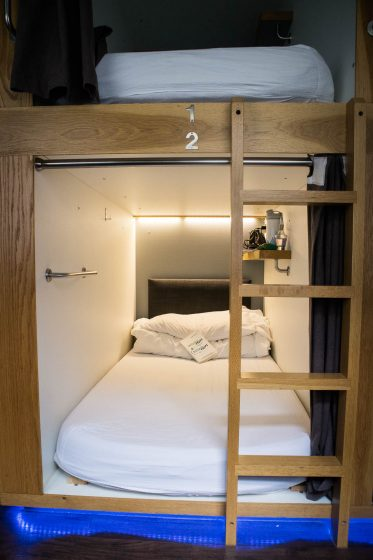 Sleeping pods at Code pod hostel Edinburgh