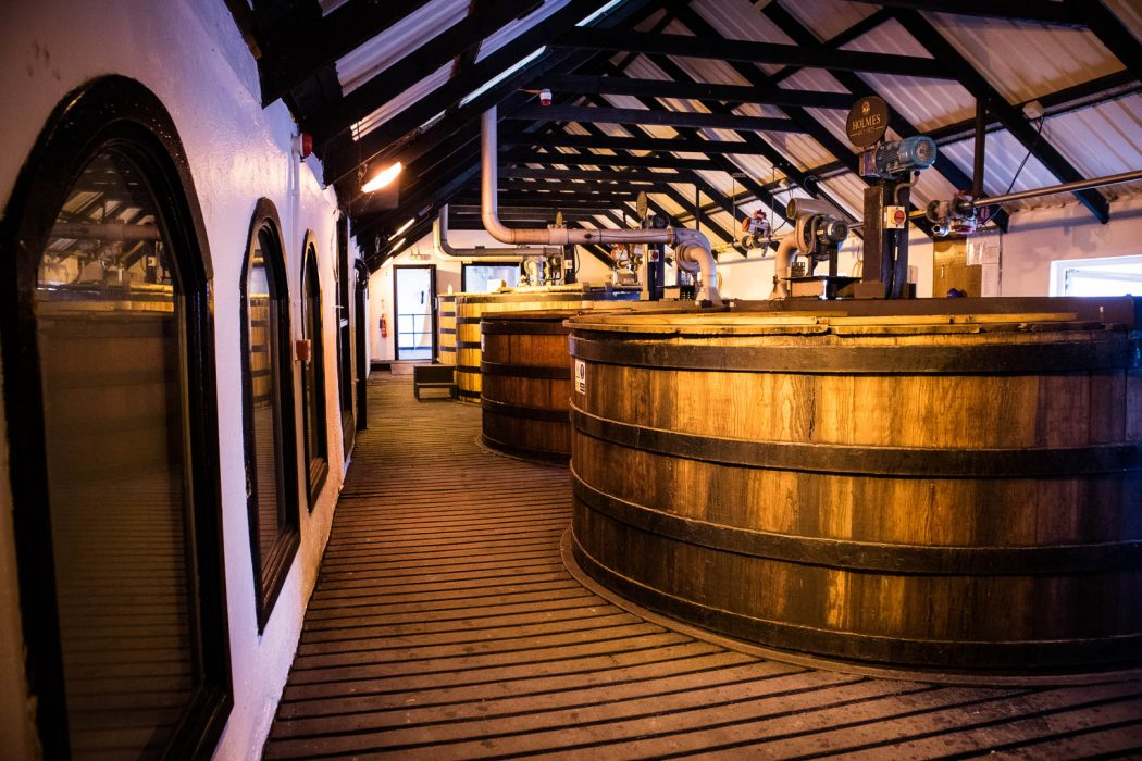 Washbacks at Bowmore Distillery