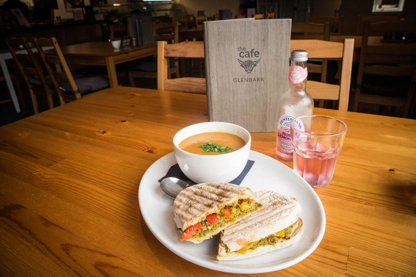Soup and toastie at Glenbarr Stores