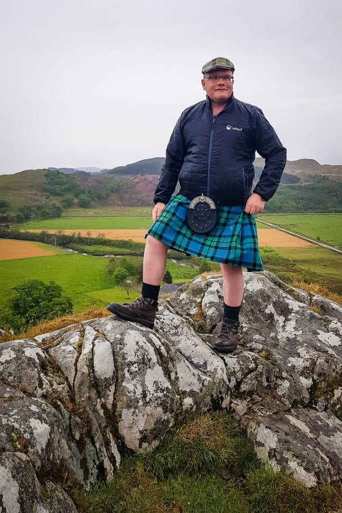 Man in a kilt - Rabbie's Driver-Guide