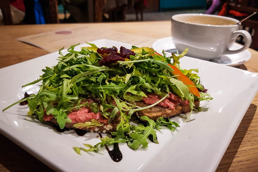 sandwich and salad at Brambles of Inveraray