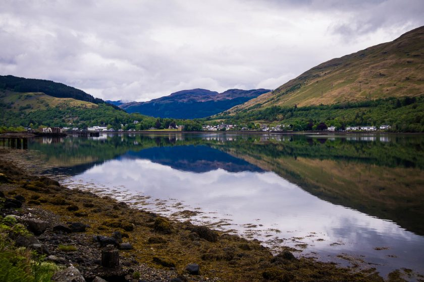 Arrochar village in the Scottish Highlands
