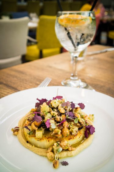 Vegan meals and Gin & Tonic at The Machrie Hotel on Islay
