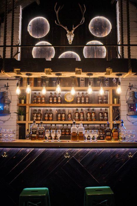 Tasting room at the Jura Whisky Distillery