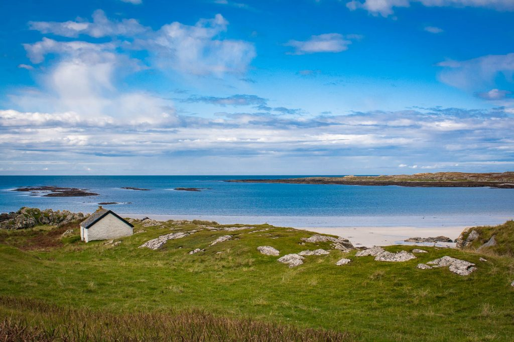 a bothy by the beach on Oronsay
