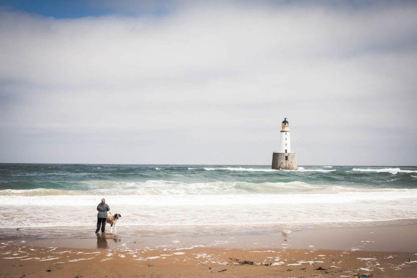 Rattray Head Lighthouse on Scotland's East Coast