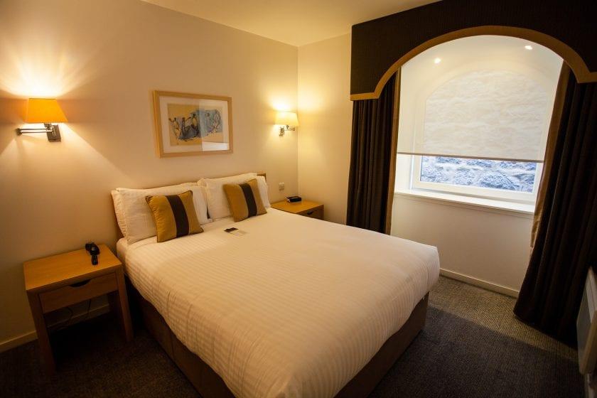 My bedroom at Skene House Rosemount hotel in Aberdeen