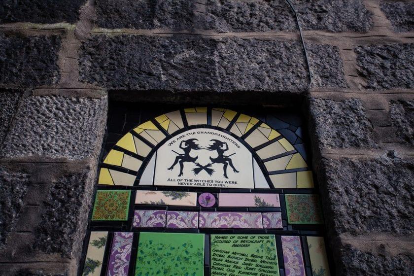 Feminist street art on the Nuart street art trail in Aberdeen