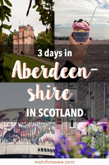 Need inspiration for a trip to Scotland's north east? This 3-day itinerary includes 13 places to visit in Aberdeenshire from castles to wildlife and cities!
