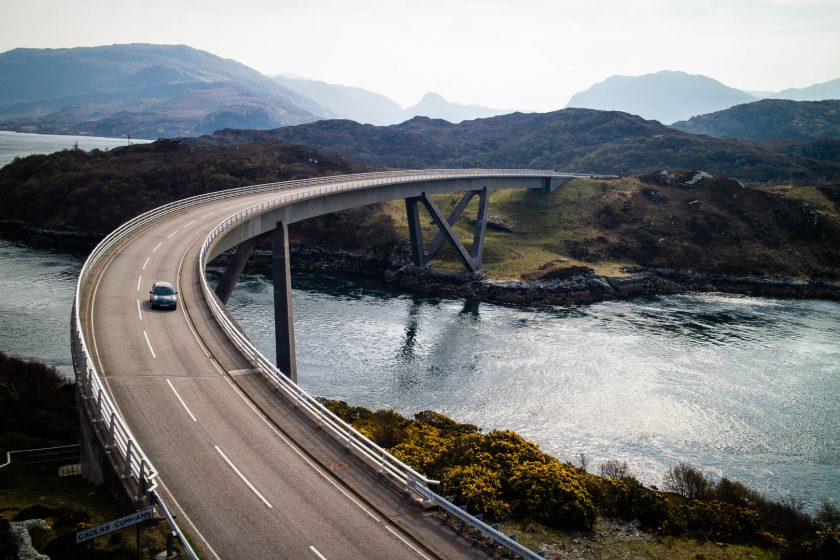 Kylesku bridge on the north coast 500 in scotland