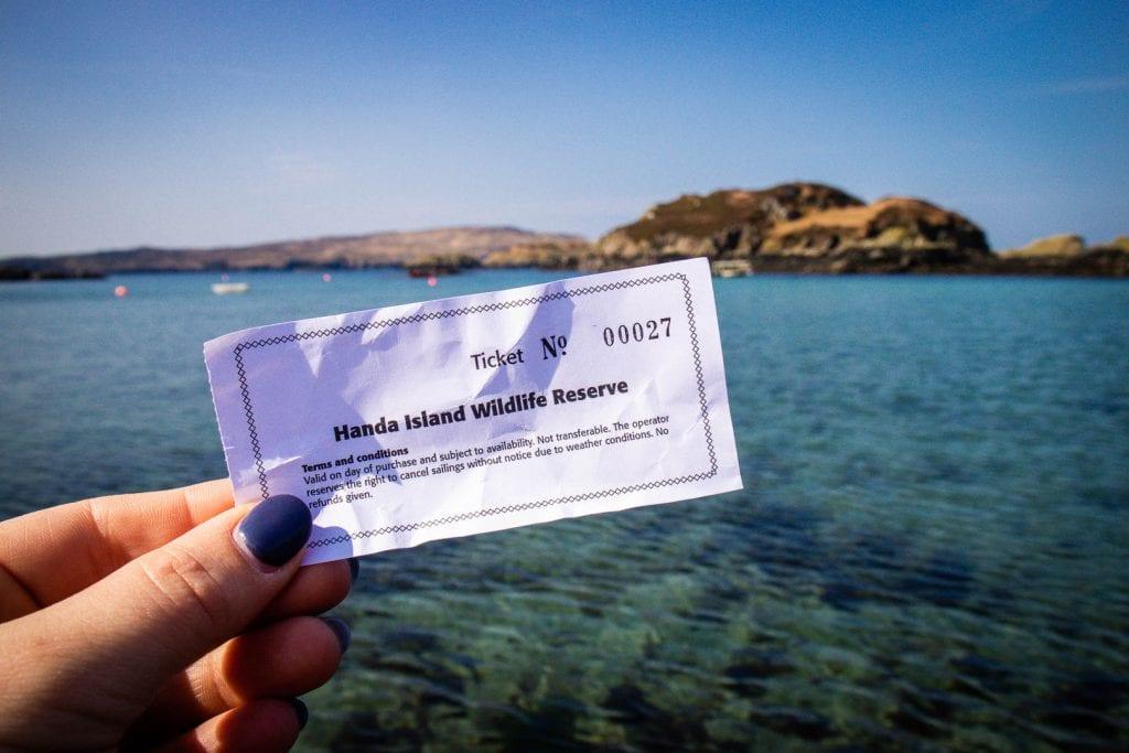 Ferry ticket for Handa Island