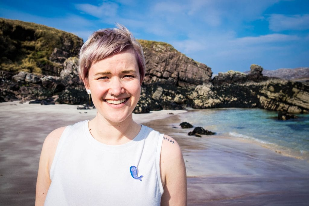 Kathi Kamleitner on Handa Island