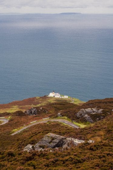 Mull of Kintyre lighthouse in Scotland