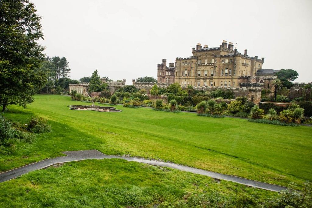 The romantic Culzean Castle by the coast of Ayrshire in Scotland.