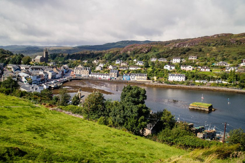 Tarbert, a colourful town in Scotland