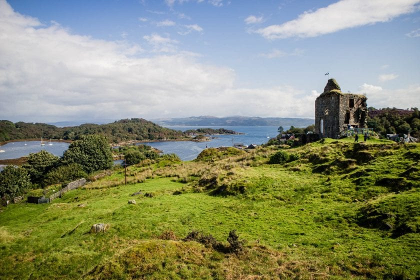 View of Tarbert Castle