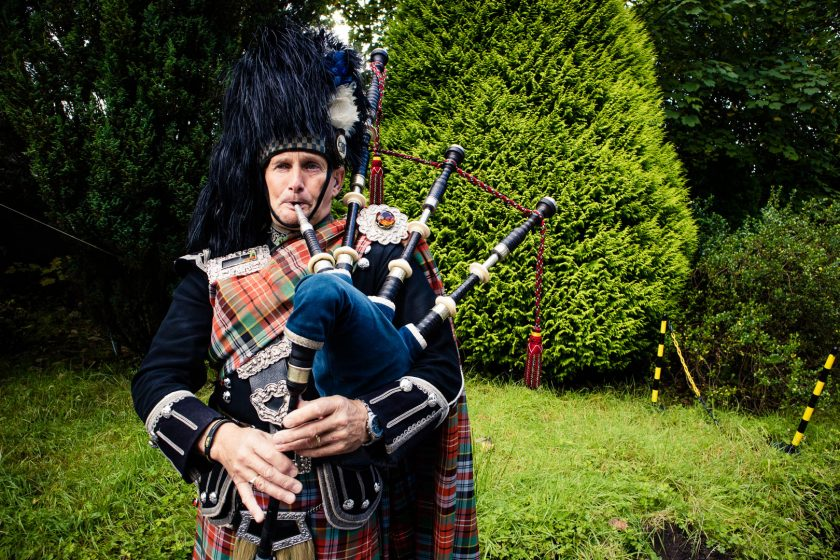 bagpipe player in scotland