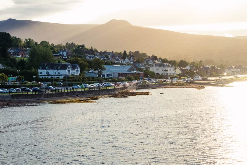 Brodick on the Isle of Arran at sunset