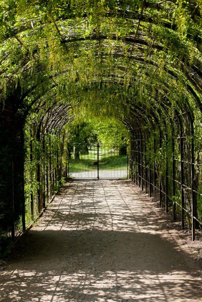 The castle gardens at Balmoral Castle.
