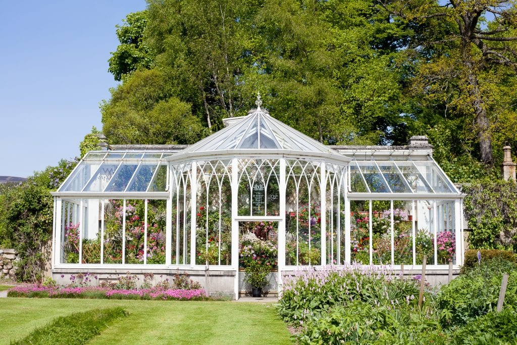 The memorial glasshouse at Balmoral Castle.
