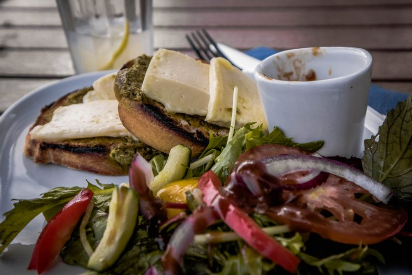 Vegan food at Corner on the Square in Beauly, Scotland.