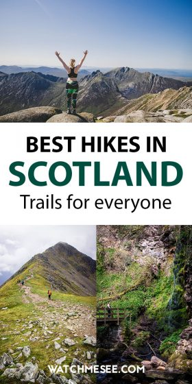 Scotland is a hiker's paradise! Click here for a guide to some of the best hikes in Scotland from Highlands to Lowlands. Tighten your boots & hit the trail!