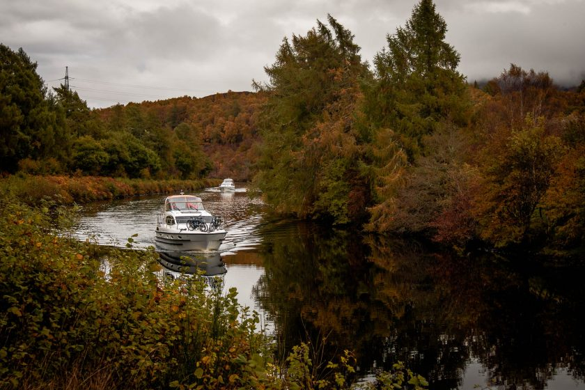 The Caledonian Canal near Loch Ness in Scotland
