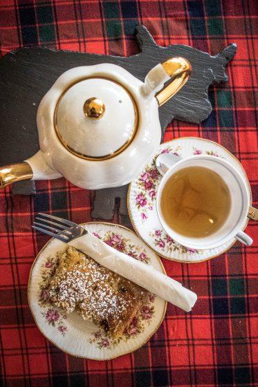 Tea and cake at Cameron's Tearoom near Loch Ness
