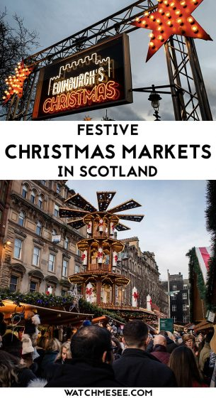 Christmas is a magical time to visit Scotland! Perfect to see the Christmas markets in Scotland: crafts, food & festive spirits from Edinburgh to Inverness.