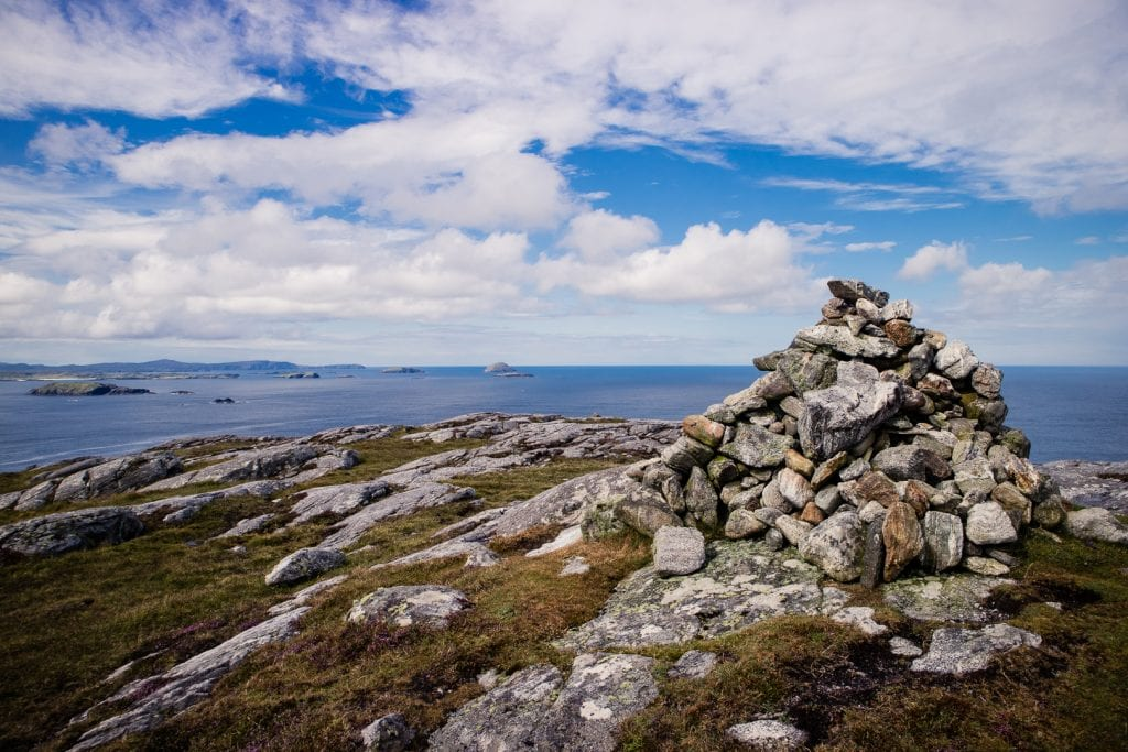 A cairn along the West Coastal Walk on the Isle of Lewis