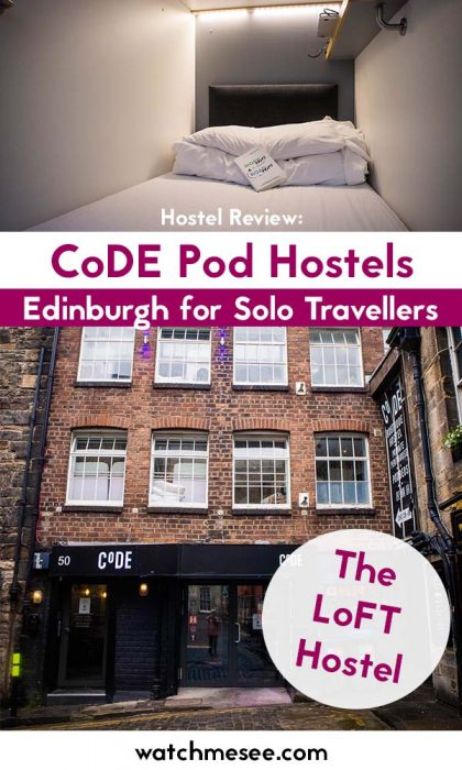 Looking for a perfect hostel for your next solo trip to Scotland? Look no further than the CoDE pod hostel Edinburgh - a modern boutiqe hostel with heart!