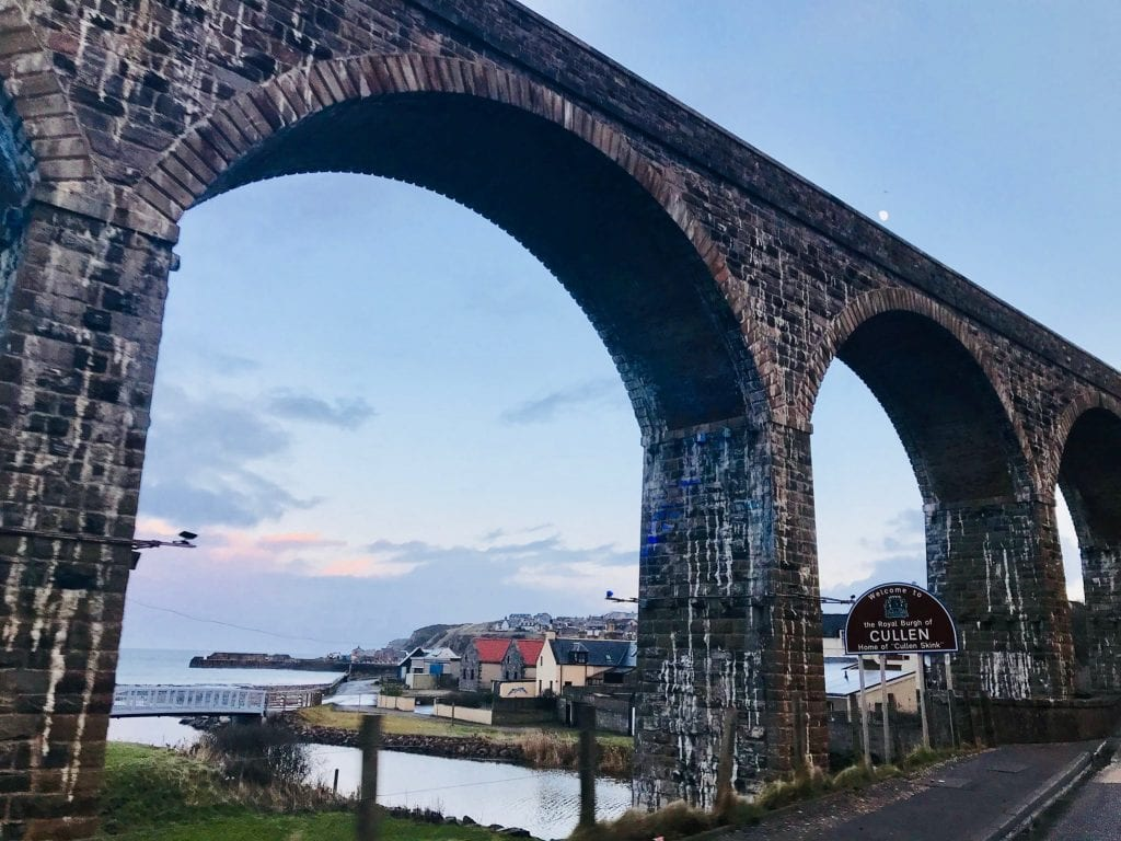 One of the picturesque aqueducts in the village of Cullen, home of the famous Cullen Skink soup.