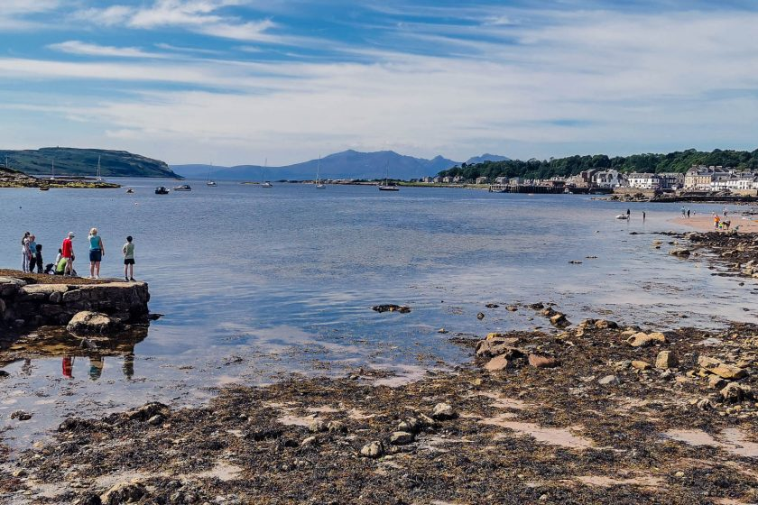 The harbour of Millport on the Isle of Great Cumbrae which makes for a perfect day trip from Glasgow