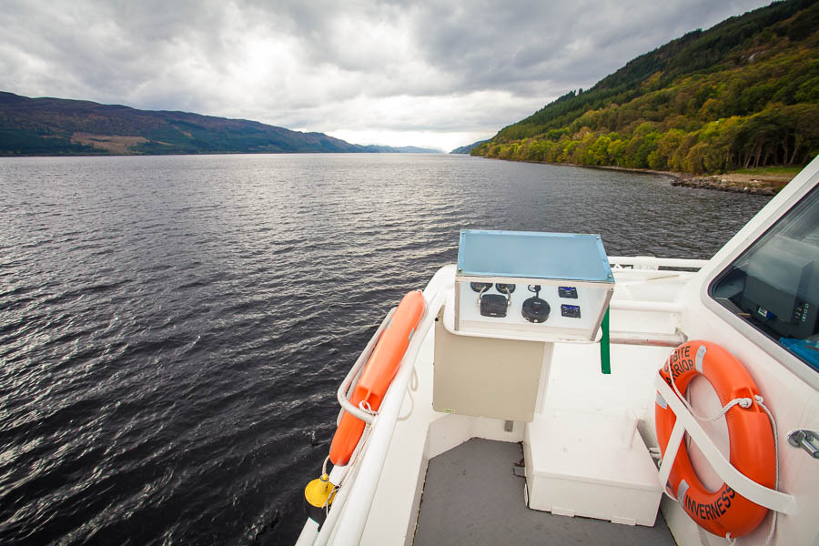 A boat on Loch Ness.