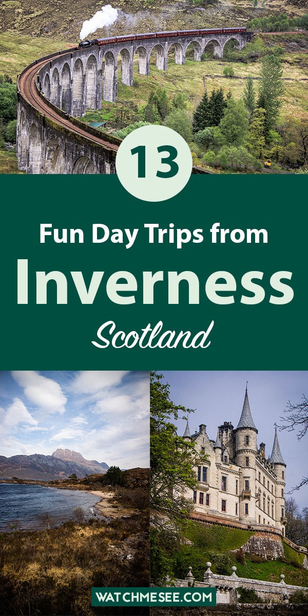 Inverness is the perfect homebase for your Scotland trip! Explore the Highlands on these amazing day trips from Inverness (by car, bus, train and tour)!