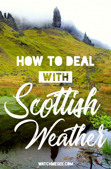 What's the weather like in Scotland? The truth is, you should expect all four seasons to happen in Scotland year round - sometimes in one day! But bad weather should not ruin your holiday! Rain is almost inevitable on a trip to Scotland - here are some ways to deal with the bad weather here!